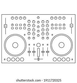 DJ controller, DJ cosole, mixer