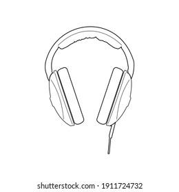 dj headphones, disco party icon