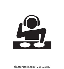 dj icon illustration isolated vector sign symbol