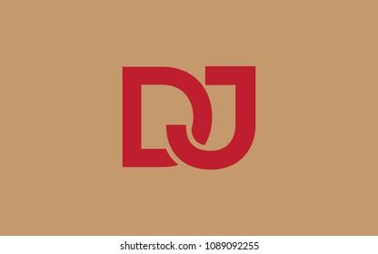 DJ JD Letter Initial Logo Design Template
