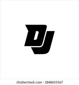 DJ or JD letter logo design vector.
