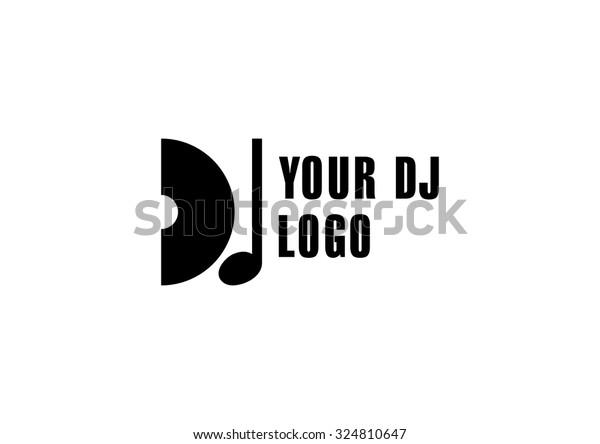 Dj Logo Club Dance Logo Music Stock Vector (Royalty Free