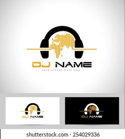 dj logo images stock photos vectors shutterstock