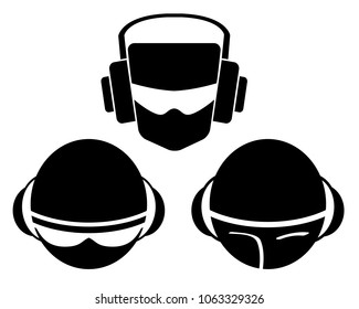 DJ logo vector illustration