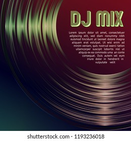 DJ mix cover with vinyl grooves