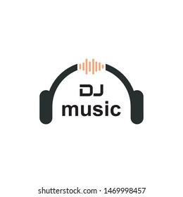 dj music logo vector,dj mixer logo,masculine dj music logo vector