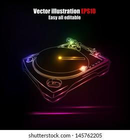 Dj neon disco house