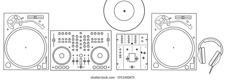 DJ Place, turntable, dj controller, mix, headphones, vinyl