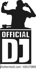 DJ-Silhouette mit offiziellem DJ