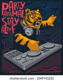 dj tiger vector design
