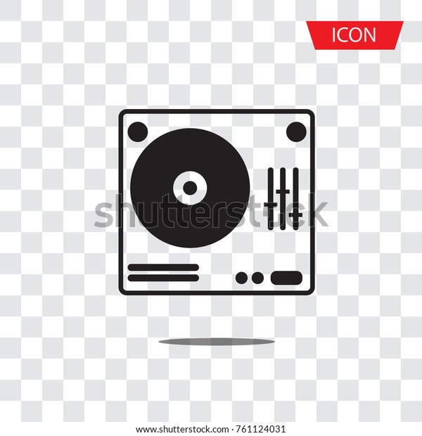 Vector de stock (libre de regalías) sobre Dj Turntable Icon