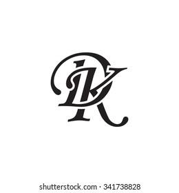 DK initial monogram logo