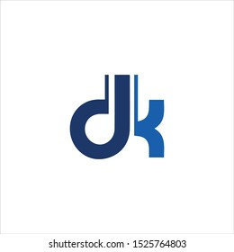DK or DK letter alphabet logo design in vector format.