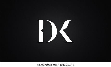 DK  Letter Logo Design Template Vector