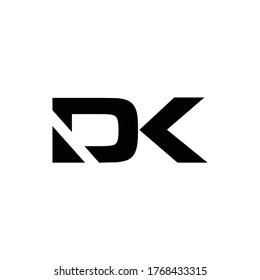 DK vector initialist letter creative logo initials