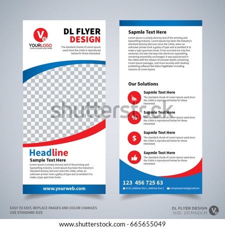 DL Flyer Design Template Corporate Business For Layout With Modern Elements