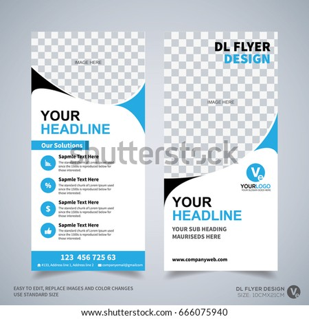 dl flyer design template dl corporate のベクター画像素材