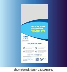 DL flyer or Rack Card Design