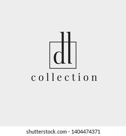 D,L vector logo. DL logo. Business logo. D,L letters monogram