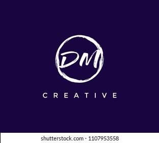 DM Brush Logo Design Template