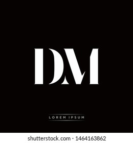 DM D M Logo Monogram with Black and White Colors