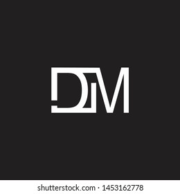 DM intial logo Capital Letters black background