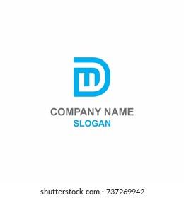 DM letter initial logo.