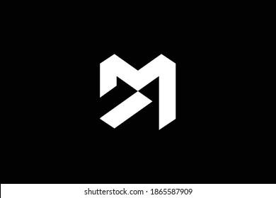 DM letter logo design on luxury background. MD monogram initials letter logo concept. DM icon design. MD elegant and Professional white color letter icon design on black background. M D