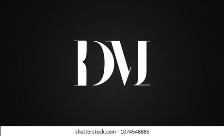 DM Letter Logo Design Template Vector