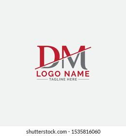 DM letter logo design vector