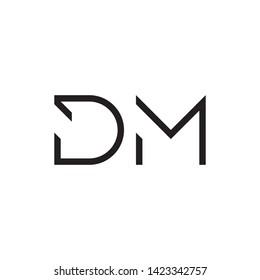 DM letter logo template vector icon design