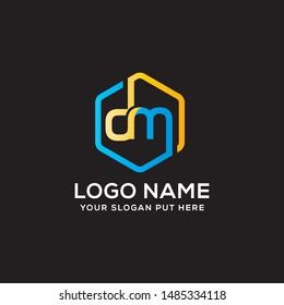 DM Letter logo vector design template