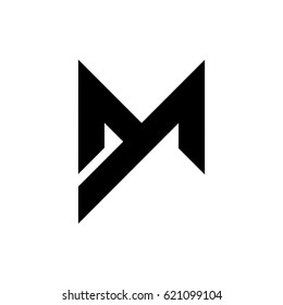 letter m logo stock vector image 63388199 dm stock images royalty free images amp vectors 822