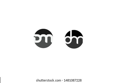 DM logo or icon or symbol can use for brand