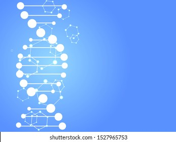 DNA abstract background. Vector illustration