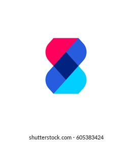 DNA abstract genetic molecule. Medical or biotechnology vector logo mark template or icon