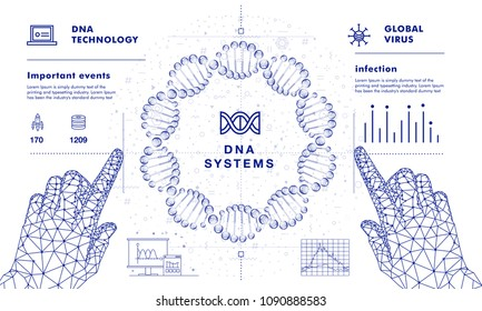 DNA analysis on medical systems development future industry.  Innovations program in intelligence learn. Trendy design in awesome really style.