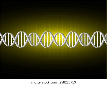 DNA background. molecular structure of planar elements. vector. yellow Light Abstract Technology background for computer graphic website internet and business. sound wave.