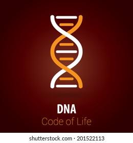 DNA / Biotechnology Background with Minimalist, Flat & Retro Style