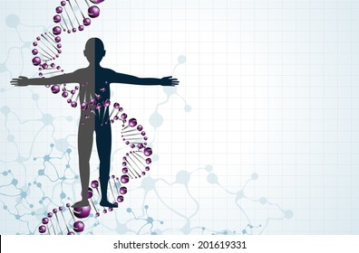 Dna and body vector