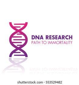 dna chain, gene research logo element, icon over white