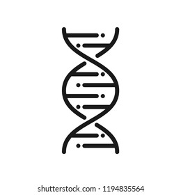 DNA chain icon. Science lab concept, simple flat design. Isolate on white background.
