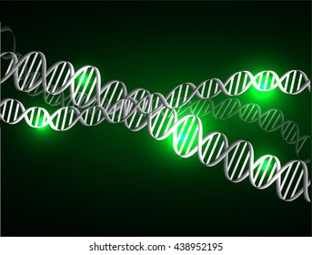 DNA chromosomal, DNA structure, DNA background. molecular structure of planar elements. vector. green Light Abstract Technology background for computer graphic website internet
