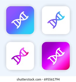 DNA chromosome bright purple and blue gradient app icon