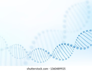 DNA chromosome concept. Science technology vector background for biomedical, health, chemistry design. 3D style.