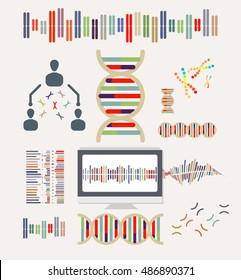 DNA and Chromosome Icons