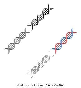 DNA code icon cartoon,black. Single medicine icon from the big medical, healthcare cartoon,black.