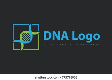 DNA concept logo, icon, symbol, design template