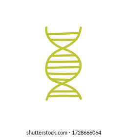 dna doodle icon, vector illustration