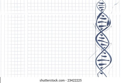 DNA drawn on paper